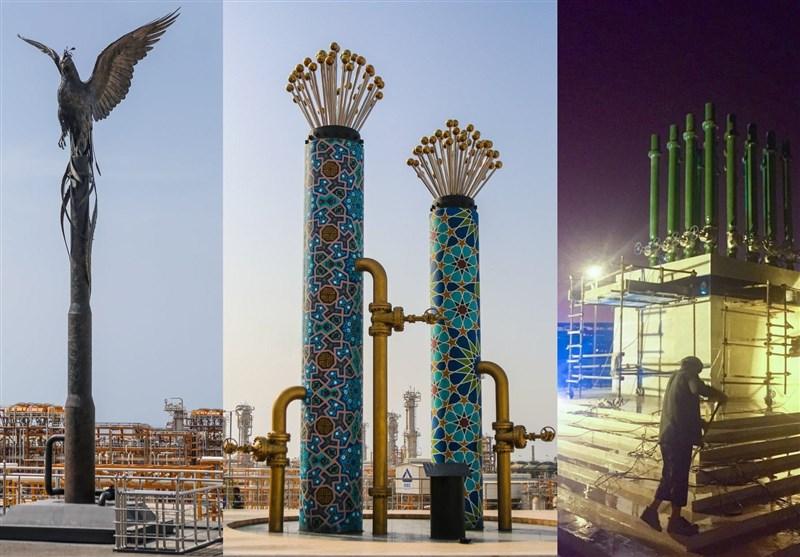 نمادسازی برای افتتاح فازهای پارس جنوبی+عکس