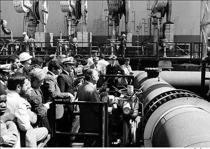 صادرات اولين محموله نفت بعد از انقلاب اسلامي