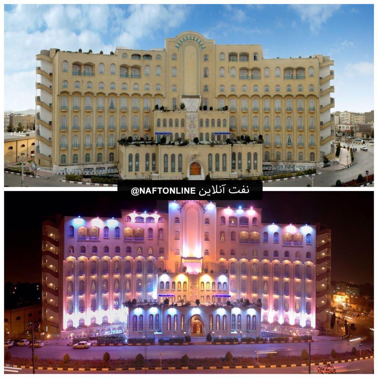 تصویری از ساختمان زائر سرای نفت در مشهدمقدس
