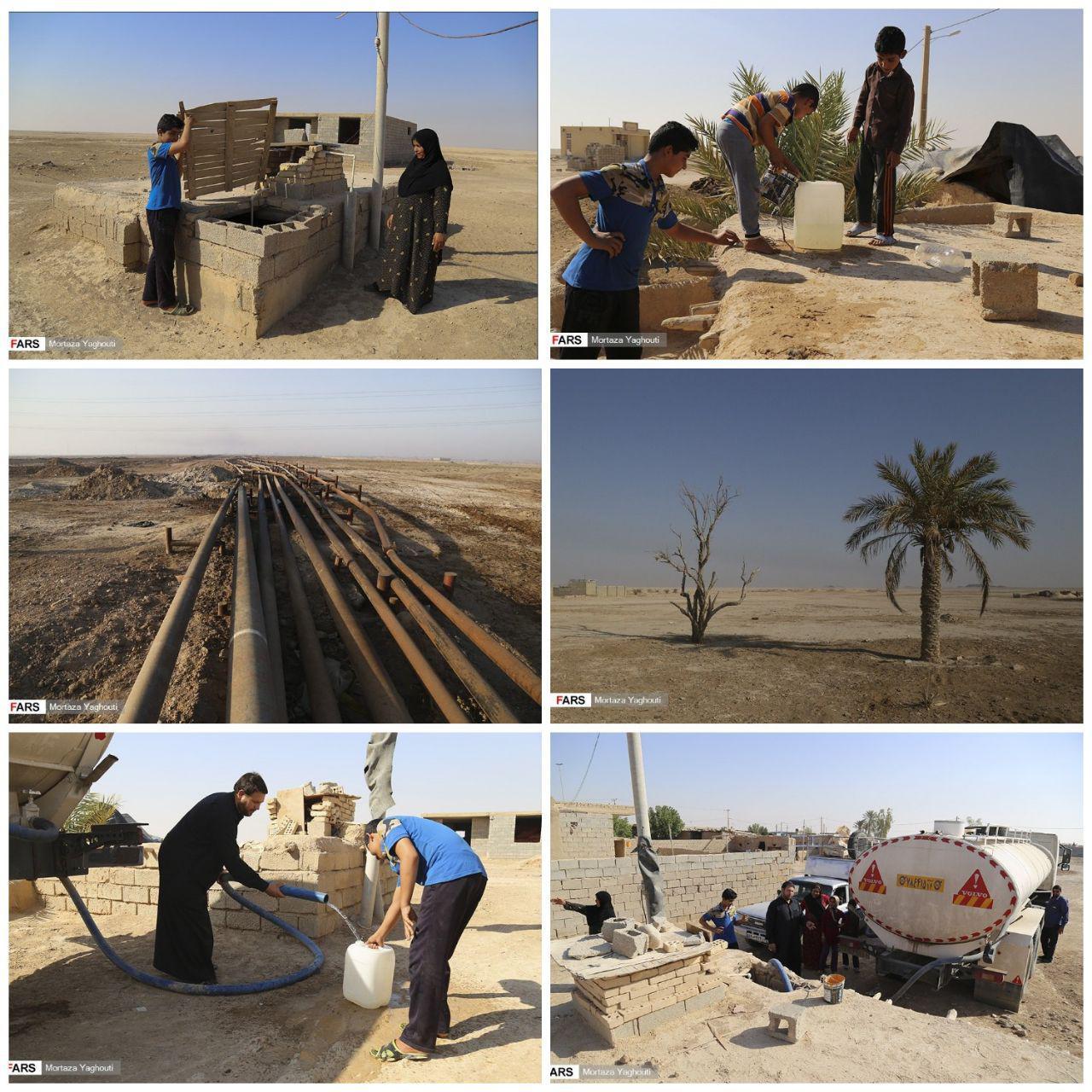 روستاهای تشنه در کنار لولههای نفت