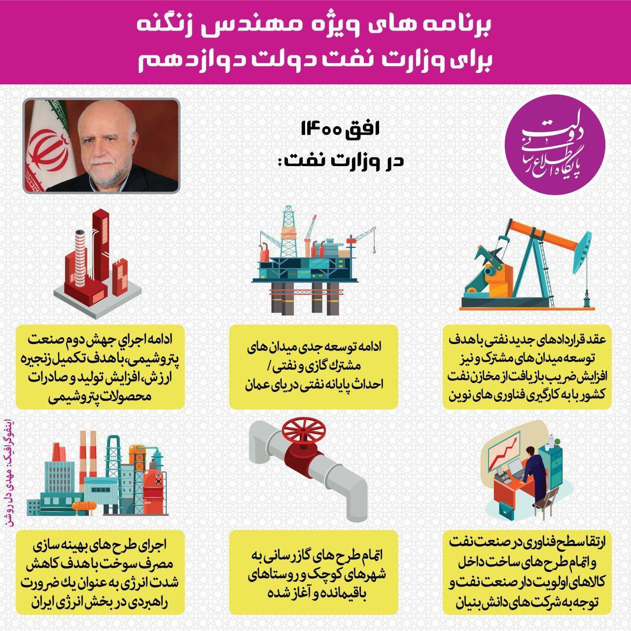 برنامه های  زنگنه وزیر پیشنهادی نفت برای کابینه دوازدهم