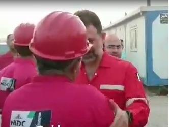 فیلم/بازدید مدیرعامل جدید حفاری از دستگاه 89 فتح