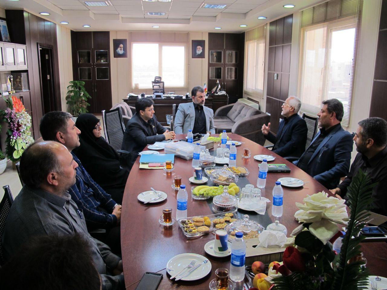 دیدار فرمانده حوزه شهید تندگویان با مهندس سپهری مدیرعامل جدید حفاری