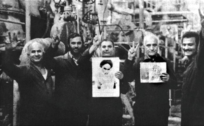 شادی کارگران نفت پس از پیروزی انقلاب اسلامی