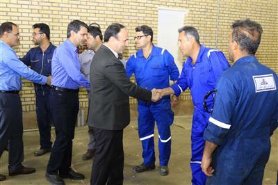 بازدید مدیرعامل شركت بهره برداری نفت و گاز مسجدسلیمان از واحدهای ستادی و عملیاتی