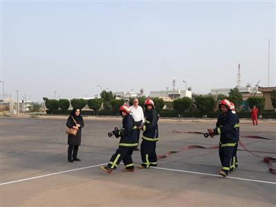 شركت نفت و گاز اروندان میزبان گروه ارزیاب بین المللی آتش نشانی
