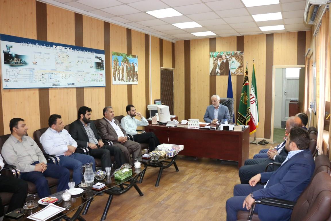 بسیجیان شرکت ملی پخش فرآورده های نفتی با فرمانده بسیج حوزه شهید تندگویان دیدار کردند