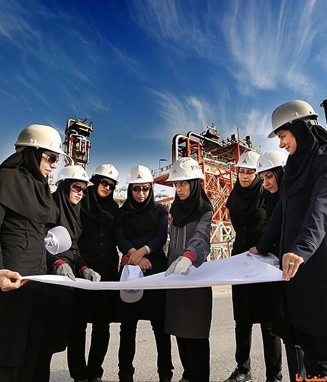 تصویری از بانوان سختکوش صنعت نفت
