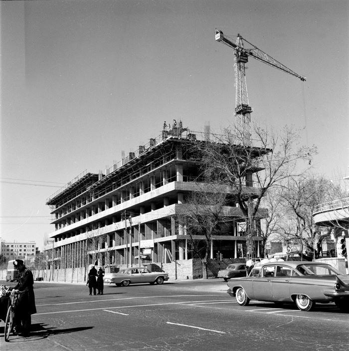 عکس/وقتی ساختمان وزارت نفت در حال ساخت بود