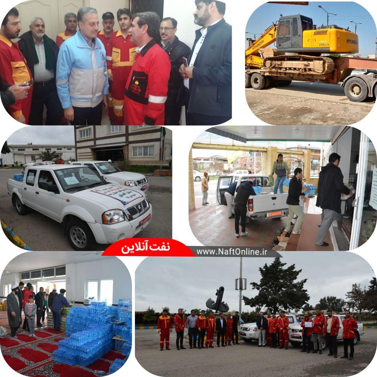 شرکت نفتخزر نیز به کمک سیلزدگان شمال کشور شتافت